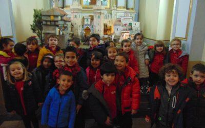 Visita de los alumnos de infantil al Belén de Sant Blai