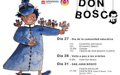 El Día de la Comunidad Educativa abre mañana los actos de la fiesta de Don Bosco