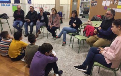 El Inspector de María Auxiliadora y la alcaldesa visitan a los alumnos del PAE