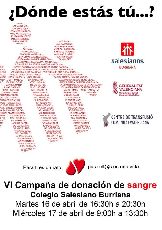 Salesianos Burriana hace un llamamiento para superar las 200 donaciones de sangre en la campaña de este año